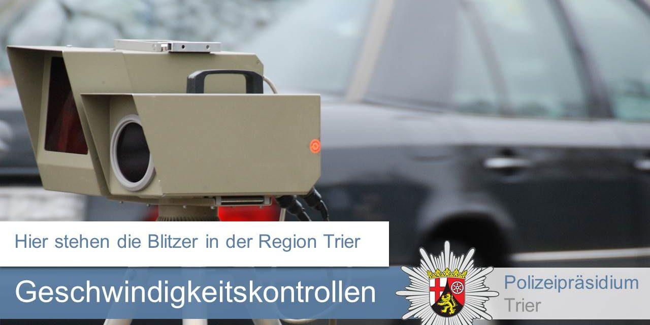 Region Trier: Geschwindigkeitskontrollen in der KW 34 2019