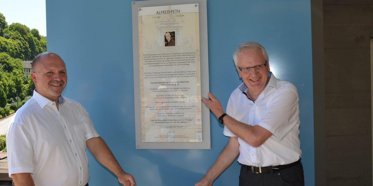 Idar-Oberstein:  Fußgängerbrücke erinnert künftig an Alfred Peth